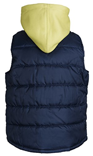 Ixtreme Little Boys Down Alternative Quilted Winter Puffer Vest with Fleece Hood