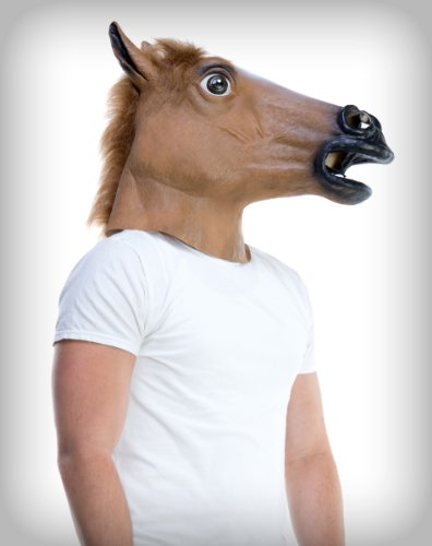 Deluxe Latex Animal Mask - Horse Mask