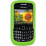 Amzer Silicone Skin Jelly Case for BlackBerry Curve 8520 Gemini - Green