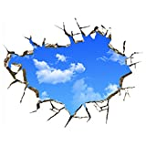 Generic 3D Blue Sky Clouds Ceiling Wall Stickers Home DIY Art PVC Decal Decor Mural