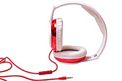 Musix Mania Headset with MIC Compatibility  with-DTS Like Experience +OnePlus 3 Lenovo Vibe K5,Moto G Plus 4th Gen, Cool pad Max, Cool pad Note 3 Plus, Meizu m3 note, Lenovo ZUK Z1, LYF WATER 5, Blu Life Mark, Lenovo K4 Note, Intex Cloud Crystal 2.5D, Lenovo Vibe X3,Coolpad Note 3 Lite Lenovo Vibe S1, OnePlus X,Coolpad Note 3 OnePlus 2 and all APPLE / ANDRIOD & WINDOWS mobiles-HOH-81-RED--MM