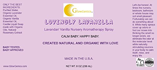 SLEEPY TIME BABY Whole Family Mist By GlowGenics. Safe and Non-Toxic. Organic Ingredients With Grade A Organic Essential Oils. Lovingly Lavanilla Scent, 8oz.