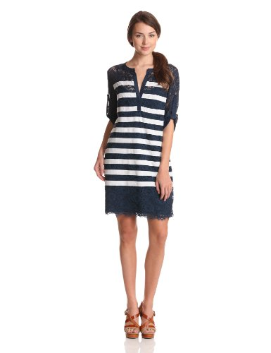 BCBGMAXAZRIA Women's Lizzie Knit Sweater Dress, Carbon Combo, Small