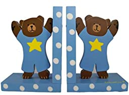 Tatutina Bookends Baby Blue Teddy Bear