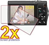 41HwYzlnjOL. SL160  2x Nikon Coolpix S6000 S5100 S3100 S3000 Premium Clear LCD Screen Protector Cover Guard Film, no cutting is required! Exact fit and satisfaction guaranteed!