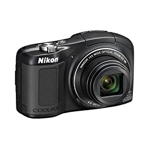 Nikon COOLPIX L620 18.1 MP CMOS Digital Camera with 14x Zoom Lens and Full 1080p HD Video (Black) (Certified Refurbished)