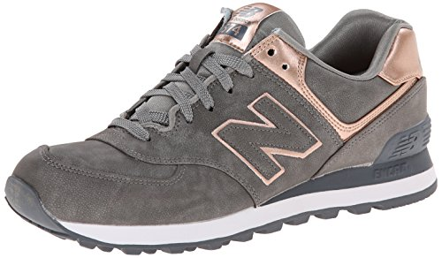 New Balance Women'S Wl574 Precious Metal Pack Running Shoe,Silver,8 B Us