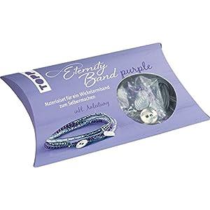 Eternity Band Set purple: Materialset für ein Wickelarmband zum Selbermachen