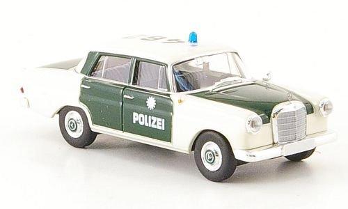 Mercedes Benz 190 °C (white 110), Polizei Hamburg, Ready Model, Scale 1:87, Brekina Starmada