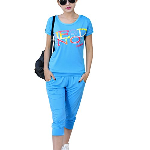 TLZC Women's Casual Print Summer Clothing Set