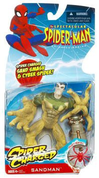 Buy Low Price Hasbro Spectacular Spider-Man Animated Action Figure Sandman (Spider Charged!) (B002GXGEHM)