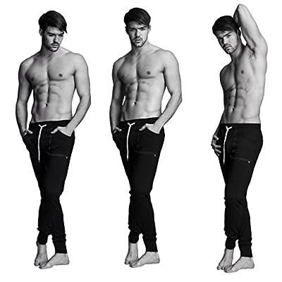 4-rth Men's Long Cuffed Jogger Yoga Pant