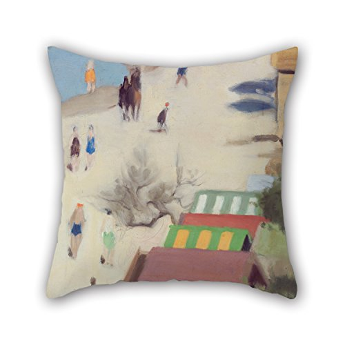 DGOOD Oil Painting Clarice Beckett - Sandringham Beach Throw Pillow Case 16 X 16 Inches / 40 By 40 Cm Gift Or Decor For Indoor,floor,lover,teens Boys,wife,kids Girls - 2 Sides (No Sew Hockey Blanket compare prices)