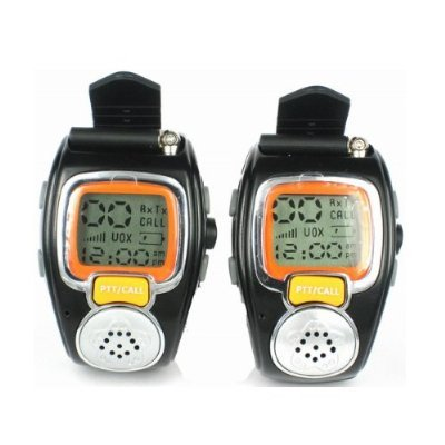 (2-pack) AGPtek® New State-of-the-art Fashionable Wristwatch Walkie Talkie Spy Wrist Watch--Auto Channel Scan--LCD display--Auto Squelch
