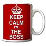 Keep Calm and Carry on I'm The BOSS Mug Cup Gift Retro