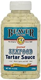 Beaver Brand Tartar Sauce, 11.5-Ounce Squeezable Bottles (Pack of 6)