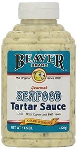 Beaver Brand Tartar Sauce, 11.5-Ounce Squeezable Bottles (Pack of 6)