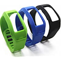 SnowCinda 3Pcs Replacement Bands With Clasps For Garmin Vivofit 2 No Tracker Replacement Bands Only