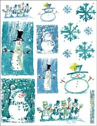Penny Black Christmas Sticker Sheet 7'X9' Joyous Season; 4 Items/Order