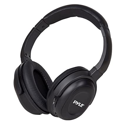 Pyle-PIH30R-UHF-Wireless-Stereo-Headphone-(With-Wireless-iPhone/iPod-Dock-Transmitter-and-RF-Remote-Control)