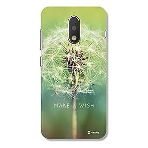 Customizable Hamee Original Designer Cover Thin Fit Crystal Clear Plastic Hard Back Case for Motorola Moto G4 / G 4th Gen (make a wish / green)