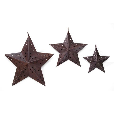 Bulk Buy: Darice DIY Crafts Rustic Star 8 inches (6-Pack) 2471-07