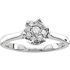 Belle Amore .25 Ct. T.W. Diamond Engagement Ring in Sterling Silvadium - Size 7