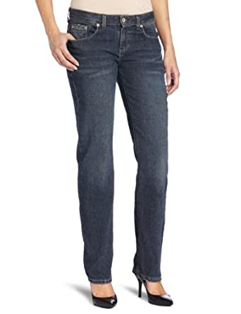 Dickies Women's Relaxed Straight Leg Jean, Antique Dark Indigo, 2 Short
