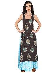 Black Hand Painted Kalamkari Linen Tunic