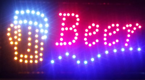 Beer Led Flashing Sign
