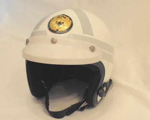 中古 旧警視庁規格 白バイヘルメット