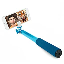 Selfix Selfie Stick Deluxe - The Best Smartphone & Gopro Selfie Stick with Remote - Featuring Struggle-Free Bluetooth for Endless Insta Selfies - RIF6 (Blue)