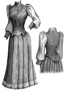 1891 Tennis Dress Pattern