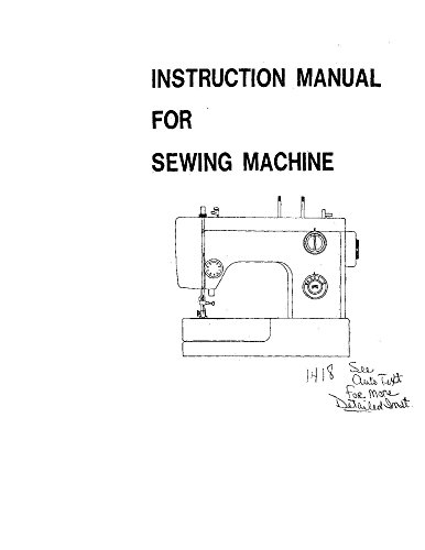 White W1418 Sewing Machine/Embroidery/Serger Owners Manual (White Sewing Machine Manual compare prices)