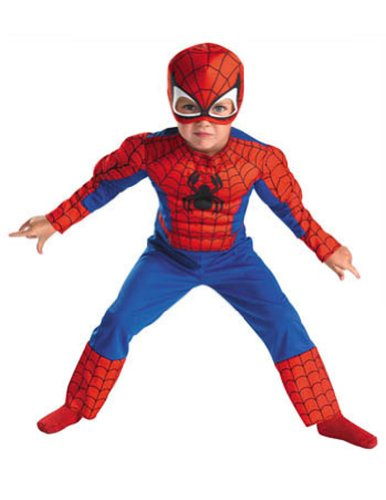 Spiderman Muscle 4-6 Kids Boys Costume