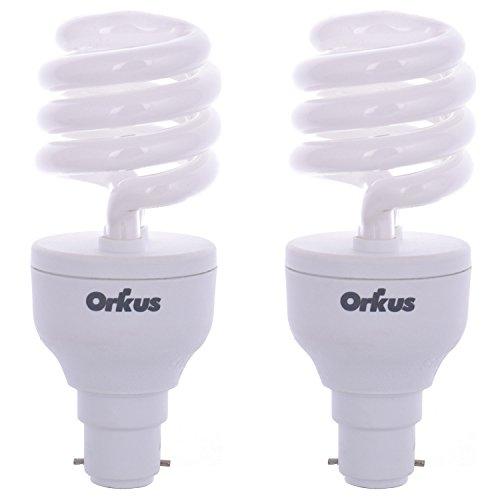 Orkus Spiral 20 Watt CFL Bulb (White,Pack of 2) Image