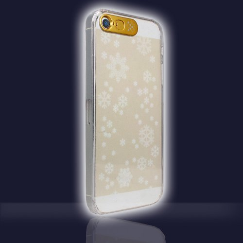 Vand Clear Flashing Case For Iphone 5S/5 - Retail Packaging - Gold Snow