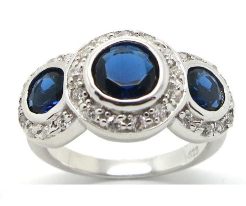 vintage-style-triple-halo-simulated-sapphire-sterling-silver-ring-size-8