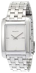 Sonata Classic Analog Silver Dial Mens Watch - ND7953SM01J