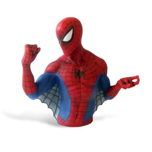 "Marvel The Amazing Spider-man Bust Money Bank - Resin 6"" By Elbenwald Picture"