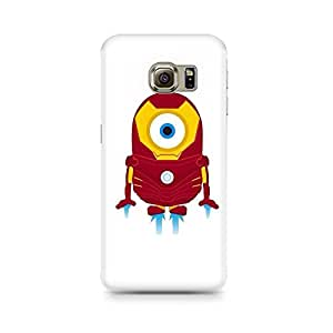 Motivatebox- Iron Man Minion Premium Printed Case For Samsung S6 Edge G9250 -Matte Polycarbonate 3D Hard case Mobile Cell Phone Protective BACK CASE COVER. Hard Shockproof Scratch-