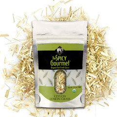The Spicy Gourmet Organic Lemon Grass only 2.0 oz from The Spicy Gourmet