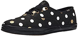 Keds Women's Taylor Swift Glitter Dot Fashion Sneaker, Black, 7.5 M US