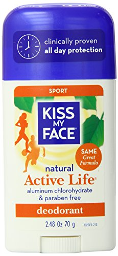 Kiss My Face Sport Active Life Stick Deodorant 2.48 Ounce (Pack of 36)