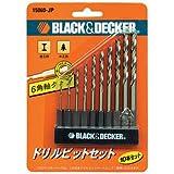 ブラックアンドデッカー(BLACK+DECKER) 6角軸タイプドリルビット 10本セット 15060