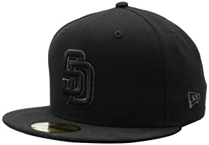 MLB San Diego Padres Black & Gray 59Fifty Fitted Cap by New Era