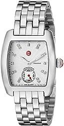 MICHELE Women's MWW02A000502 Urban Mini Analog Display Swiss Quartz Silver Watch