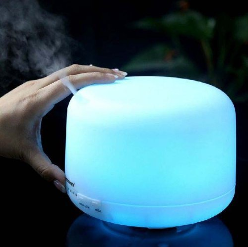 Lanlan 500Ml 360 Rotation Aroma Diffuser Ultrasonic Humidifier Led Color Changing Ionizer