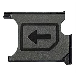 Wise Guys SIM Card Tray Holder Replacement for Sony Xperia Z1 - Black