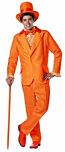 Rasta Imposta Dumb and Dumber Lloyd Christmas Tuxedo Costume, Orange, One Size